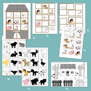 Állatok a ház körül – játékcsomag